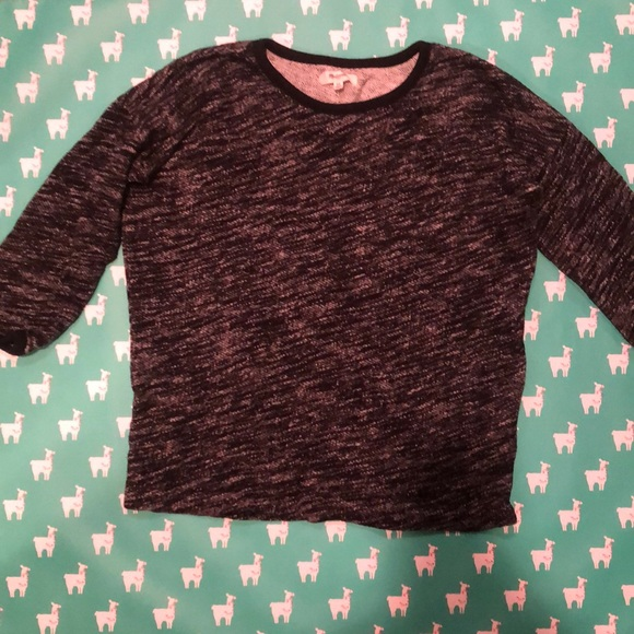 Madewell Sweaters - marbled dark gray cotton sweater